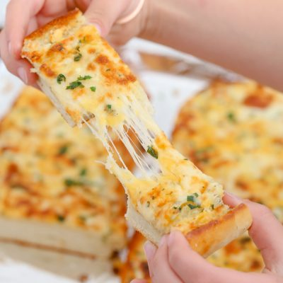 Cheesy Egg Toast And Sausage Pizza Bread