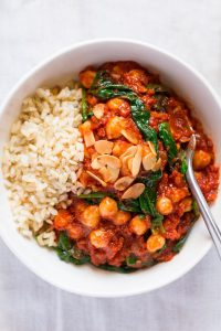 Spanish Chickpea And Spinach Stew